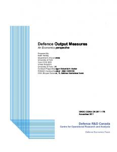 Defence Output Measures - Defence Research Reports