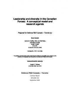 Defence R&D Canada - Defence Research Reports