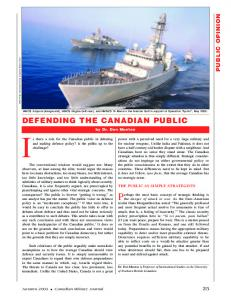 DEFENDING THE CANADIAN PUBLIC