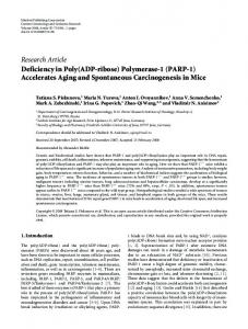 Deficiency in Poly(ADP-ribose) Polymerase-1