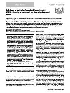 Deficiency of the CyclinDependent Kinase ... - Wiley Online Library