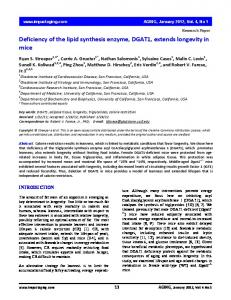 Deficiency of the lipid synthesis enzyme, DGAT1