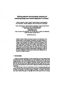 Defining adaptive learning design templates for combining design and ...