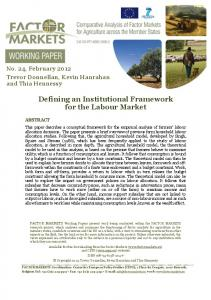 Defining an Institutional Framework for the Labour Market - Centre for ...