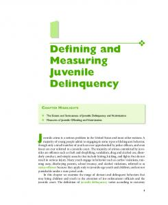 Defining and Measuring Juvenile Delinquency - Sage Publications