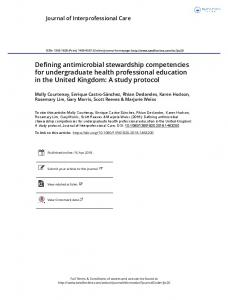 Defining antimicrobial stewardship competencies for ...