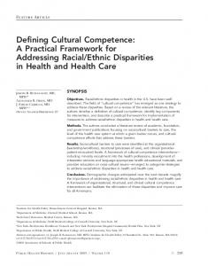 Defining Cultural Competence - CiteSeerX