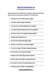Defining Relative Clauses 1