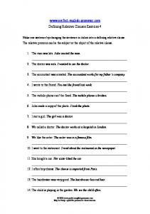 Defining Relative Clauses 4
