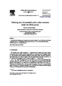 Defining sets of extended cyclic codes invariant