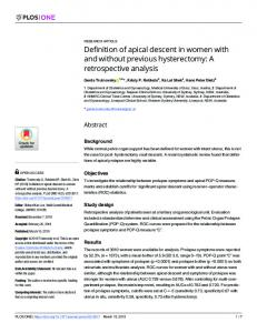 Definition of apical descent in women with and without ... - PLOSwww.researchgate.net › publication › fulltext › Definition