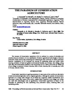 Definition of Conservation Agriculture - Centre for Sustainable ...