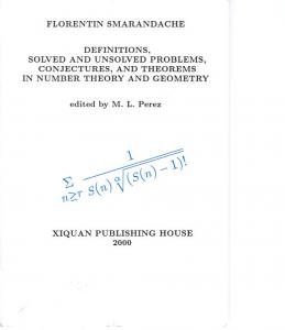 Definitions, Solved and Unsolved Problems, Conjectures - UNM Gallup