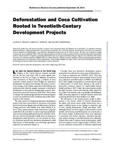 Deforestation and Coca Cultivation Rooted in