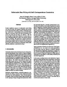 Deformable Face Fitting with Soft Correspondence Constraints