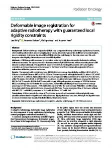 Deformable image registration for adaptive radiotherapy with ...