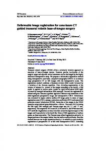 Deformable image registration for cone-beam CT guided transoral ...