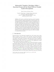 Deformable Template Matching within a Bayesian Framework ... - Uab