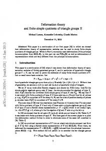 Deformation theory and finite simple quotients of triangle groups II
