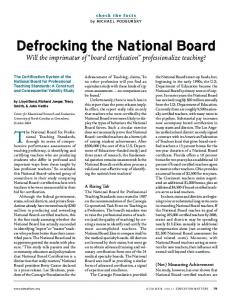 Defrocking the National Board