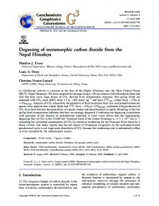 Degassing of metamorphic carbon dioxide from the ... - Wheaton College