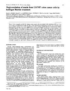 Deglycosylation of mucin from LS174T colon cancer cells by ... - NCBI