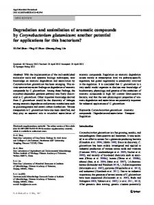Degradation and assimilation of aromatic compounds by ...