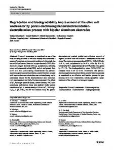 Degradation and biodegradability improvement of the ...