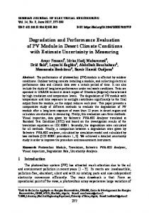 Degradation and Performance Evaluation of PV Module in Desert