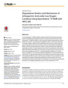 Degradation Kinetics and Mechanism of