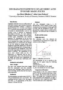degradation kinetics of ascorbic acid in home-made