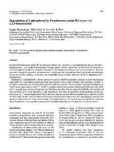 Degradation of 3-nitrophenol by Pseudomonas putida B2 occurs via 1 ...