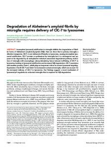 Degradation of Alzheimer's amyloid fibrils by microglia ... - CiteSeerX