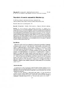 Degradation of aromatic compounds by - Springer Link