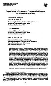Degradation of Aromatic Compounds Coupled to ... - Microorganisms