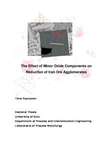 degradation of iron oxide caused by alumina during reduction from ...