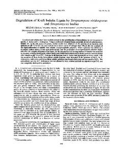 Degradation of Kraft Indulin Lignin by Streptomyces viridosporus and ...