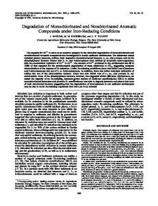 Degradation of Monochlorinated and Nonchlorinated Aromatic ...