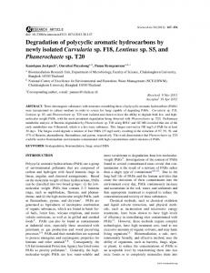 Degradation of polycyclic aromatic hydrocarbons by ... - ScienceAsia