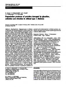 Degradation products of proteins damaged by ... - Springer Link