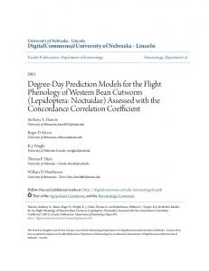 Degree-Day Prediction Models for the Flight ... - Semantic Scholar
