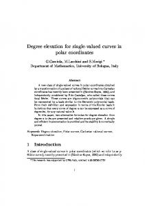 Degree elevation for single-valued curves in polar coordinates