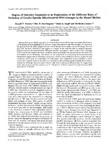 Degree of Selective Constraint as an Explanation of the ... - NCBI