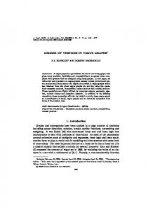 DEGREE OF VERTICES IN VAGUE GRAPHS 1. Introduction ... - KPubS