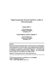 Degree sequences forcing Hamilton cycles in directed graphs