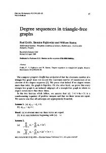 Degree sequences graphs in triangle-fr - Science Direct