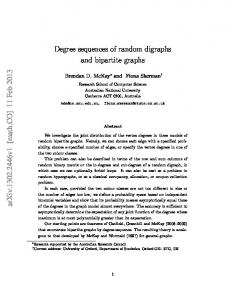 Degree sequences of random digraphs and bipartite graphs