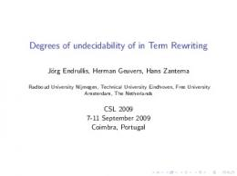 Degrees of undecidability of in Term Rewriting