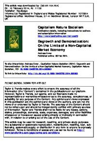 Degrowth and Demonetization - Social Innovation Network