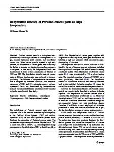Dehydration kinetics of Portland cement paste at high temperature ...